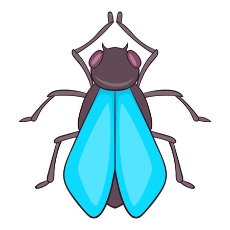 Fly icon, cartoon style