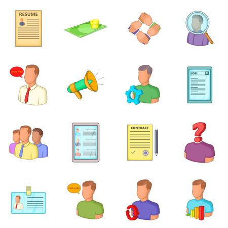 Human resources icons set, flat style Фото со стока - 107288280