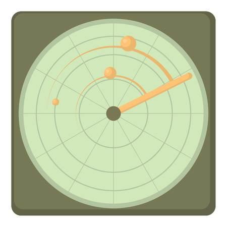 Radar icon. Cartoon illustration of radar icon for web
