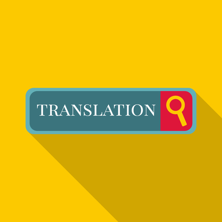 Internet translation icon. Flat illustration of Internet translation icon for web
