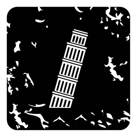 Pisa Tower icon. Grunge illustration of Pisa Tower icon for web