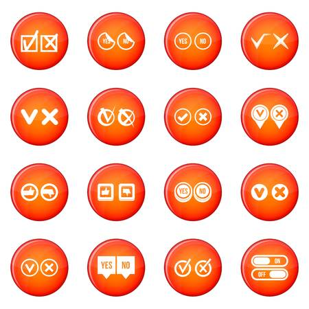 Check mark icons set Stock Photo