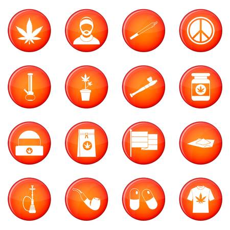 Rastafarian icons set Stock Photo