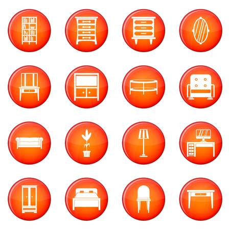 Furniture icons set Stock fotó