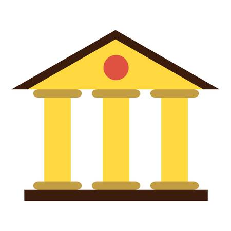 Justice court building icon, flat style