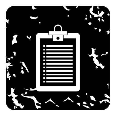 Plane tablet icon, grunge style Reklamní fotografie - 107428863