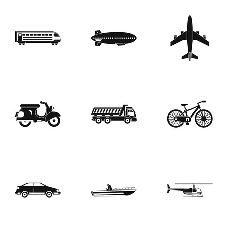 Movement icons set, simple style