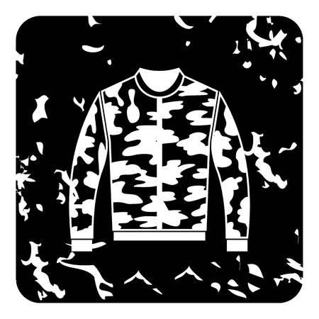 Jacket icon, grunge style