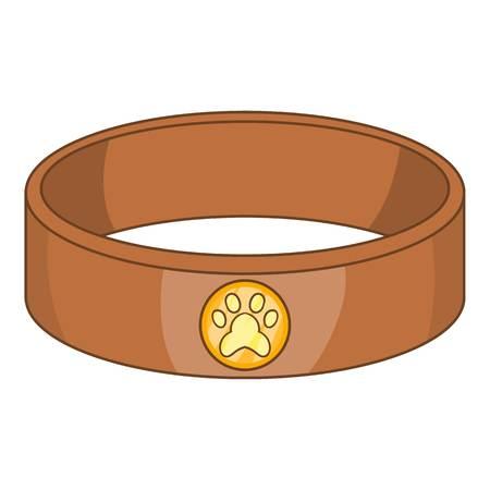 Pet collar icon, cartoon style