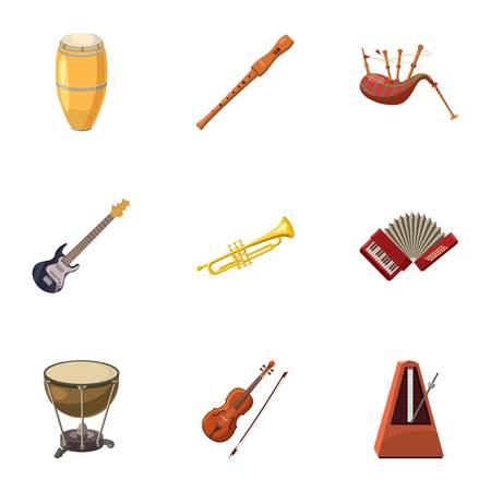 Device for music icons set, cartoon style Standard-Bild - 107496082