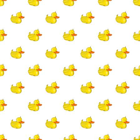 Rubber duck pattern, cartoon style