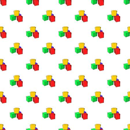 Baby cubes pattern, cartoon style