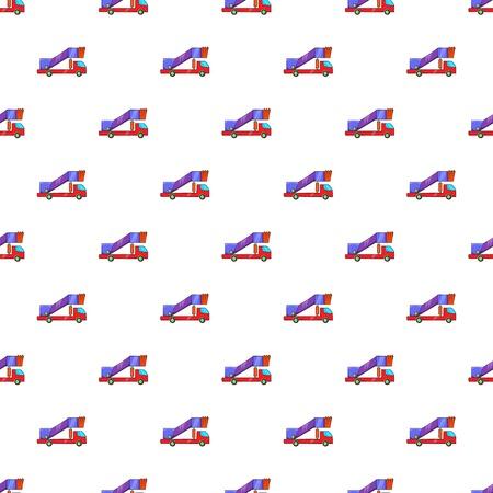 Passenger gangway pattern, cartoon style