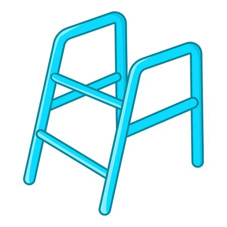 Walking frame icon, cartoon style