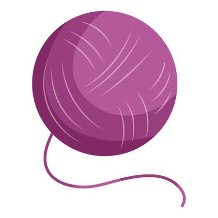 Purple yarn ball icon, cartoon style Stock Photo