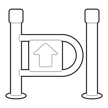 Fencing system icon, outline style Imagens