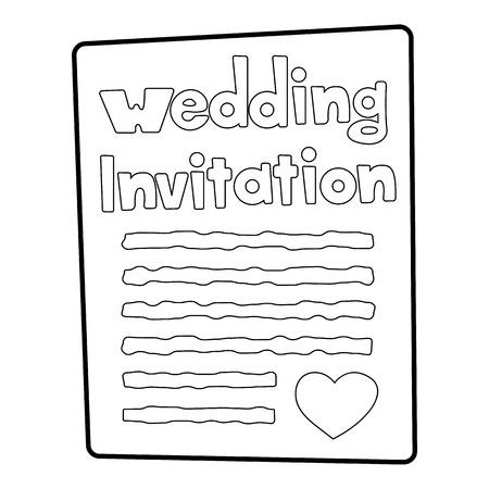 Invitation icon, outline style Stockfoto