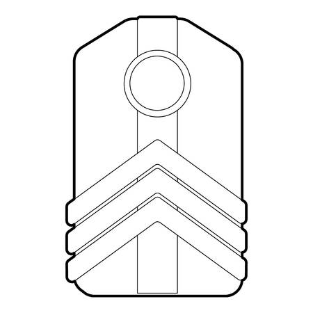 Shoulder straps icon, outline style