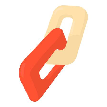 Chain icon, cartoon style