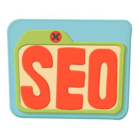 Seo icon, cartoon style 스톡 콘텐츠