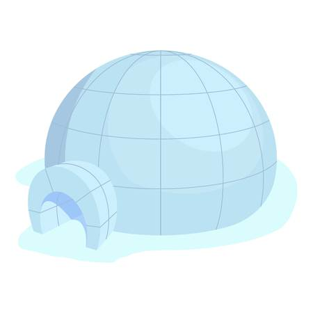 Igloo icon, cartoon style
