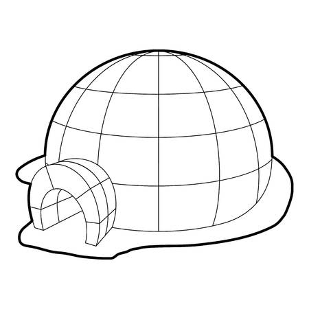 Igloo icon, outline style