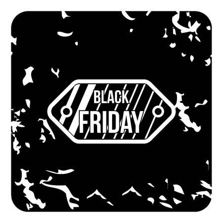 Black friday sale icon, grunge style