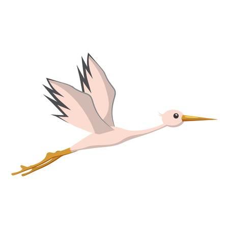 Stork icon. Cartoon illustration of stork icon for web Stock Illustration - 107311590