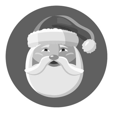 Santa Claus icon. Gray monochrome illustration of Santa Claus icon for web Stock Photo
