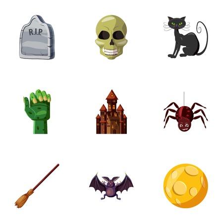 Terrible holiday icons set. Cartoon illustration of 9 terrible holiday icons for web