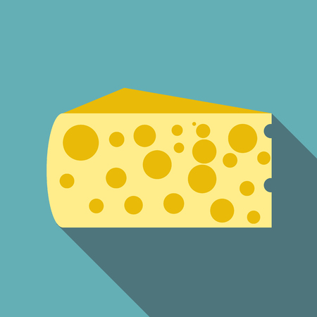 Cheese icon. Flat illustration of cheese icon for web
