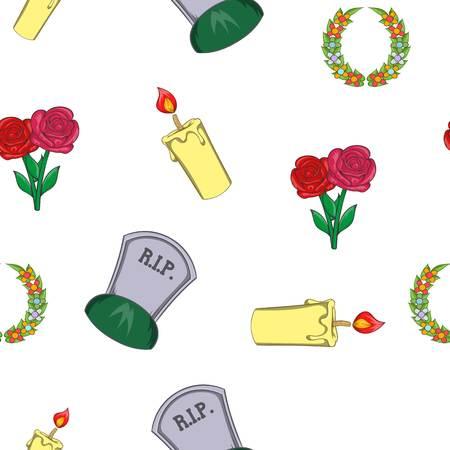 Burial pattern, cartoon style