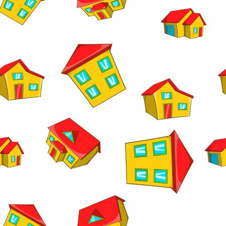 House pattern, cartoon style Stock Photo