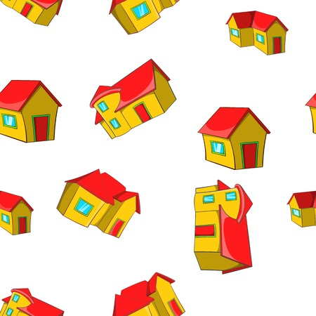 Building pattern, cartoon style Stock Photo