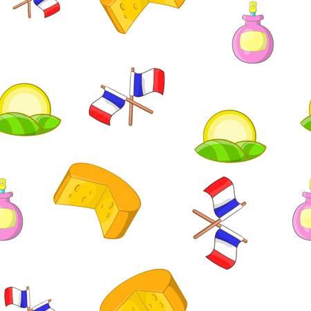 France Republic pattern, cartoon style
