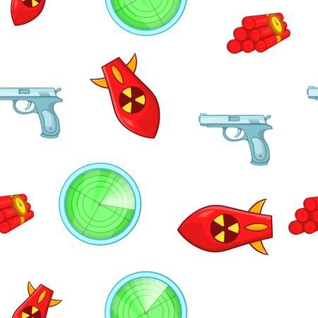 Weaponry pattern, cartoon style