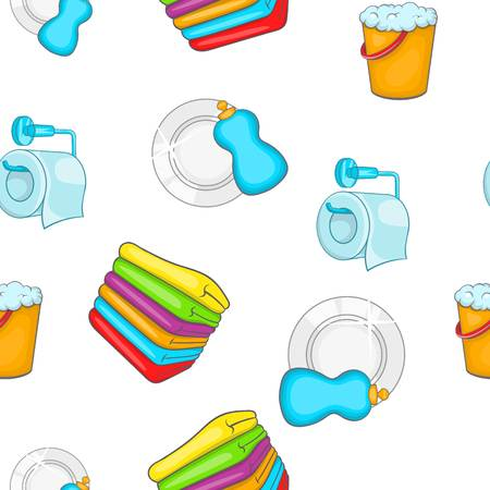 Cleaning pattern, cartoon style Stock Photo