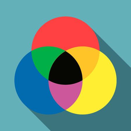 Color range spectrum circle round palette icon