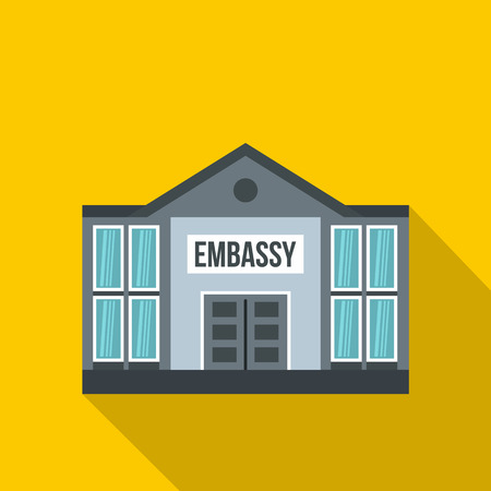 Embassy icon. Flat illustration of embassy icon for web Standard-Bild