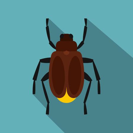 Harvest bug icon. Flat illustration of harvest bug icon for web Stock Photo