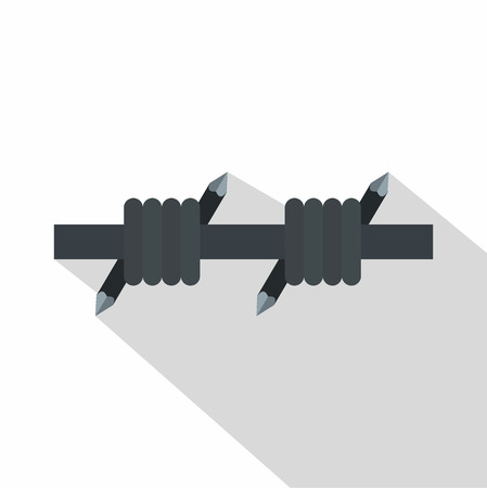 Barbed wire icon. Flat illustration of barbed wire icon for web