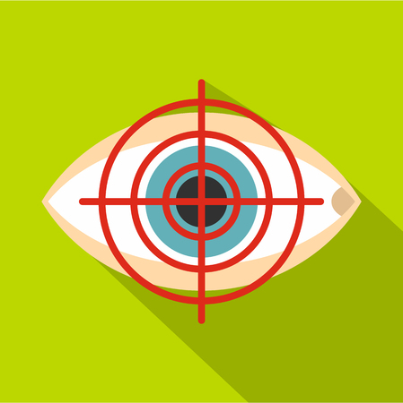 Optician icon. Flat illustration of optician icon for web