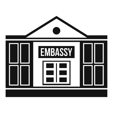 Embassy icon. Simple illustration of embassy icon for web