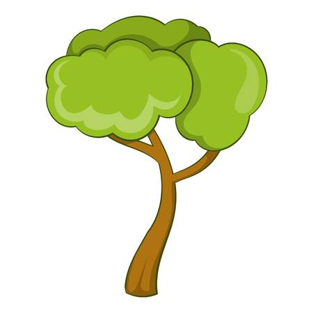 Deciduous tree icon. Cartoon illustration of deciduous tree icon for web Stok Fotoğraf