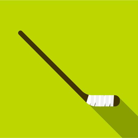 Hockey stick icon. Flat illustration of hockey stick icon for web design
