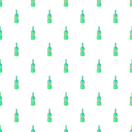 Electronic cigarette cartridge pattern. Cartoon illustration of electronic cigarette cartridge refill bottle pattern for web