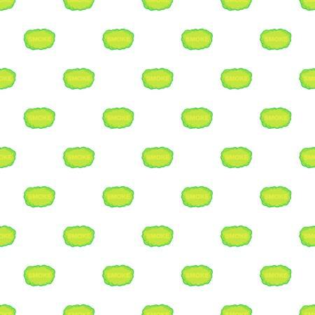 Green smoke cloud pattern. Cartoon illustration of green smoke cloud pattern for web Stock Photo