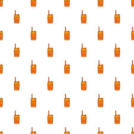 Orange portable handheld radio pattern. Cartoon illustration of portable handheld radio pattern for web Stock Photo