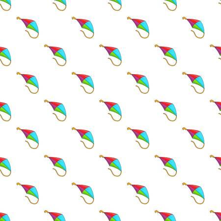 Flying kite pattern. Cartoon illustration of flying kite pattern for web