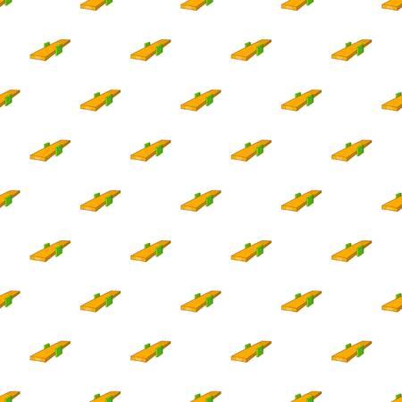 Seesaw pattern. Cartoon illustration of seesaw pattern for web